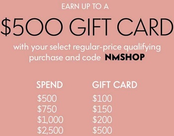 Coupon for: Buy more, save more at Neiman Marcus