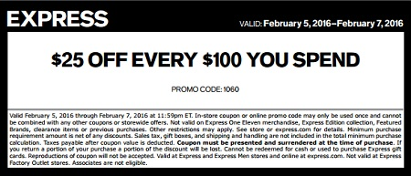 Coupon for: Last call for savings at Express locations