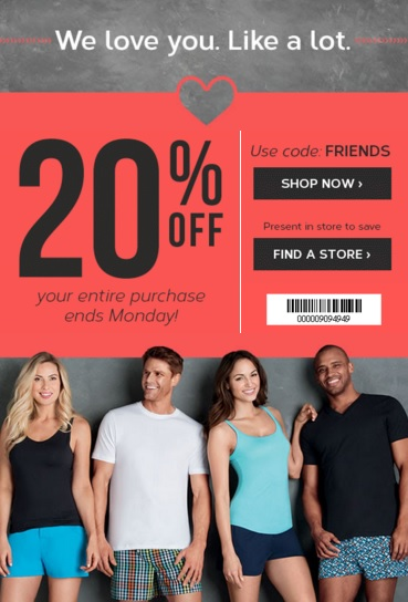Coupon for: Last hours to save at Jockey locations