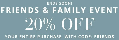 Coupon for: Save money during Friends & Family Event at Pottery Barn