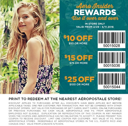 Coupon for: U.S. Aéropostale: Buy more, save more