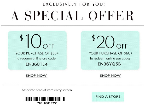 Coupon for: Special offer from Charming Charlie just for you