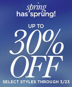 Coupon for: First Sale of spring from bebe