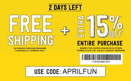 Coupon for: Shopping with coupon at Crazy 8 stores