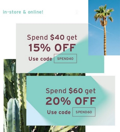 Coupon for: Mid Season Sale at CALL IT SPRING locations & online