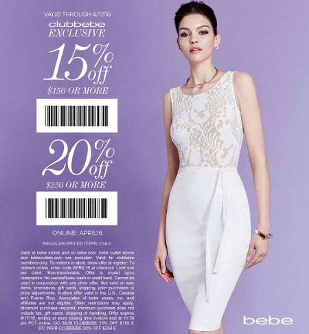 Coupon for: Last day to save money at bebe