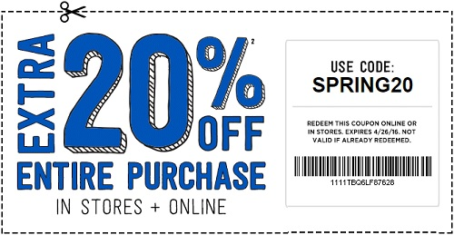 Coupon for: Last day to save at Crazy 8 stores with coupon