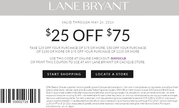 Coupon for: U.S. Lane Bryant coupon: Buy more, save more