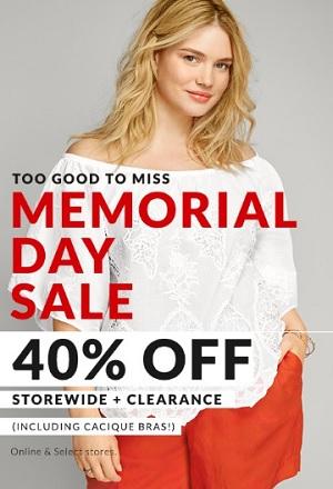 Coupon for: Memorial Day Sale at US Lane Bryant