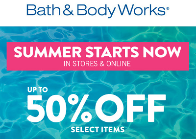 Coupon for: Summer Sale at Bath & Body Works