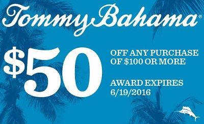 Coupon for: Get Award Card from Tommy Bahama