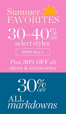 Coupon for: U.S. Talbots offer: Summer Favorites on Sale