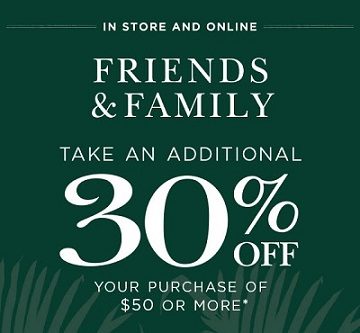 Coupon for: Friends & Family Event at Crabtree & Evelyn