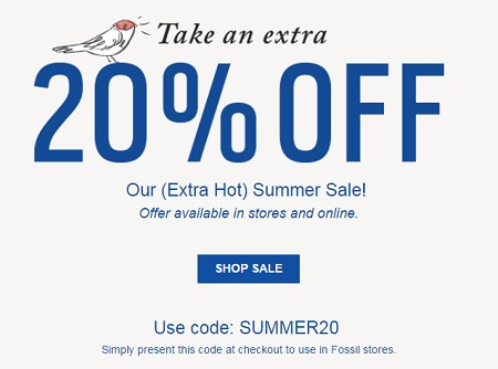 Coupon for: Shop 4th of July Sale at Fossil