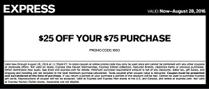 Coupon for: Save with coupon at Express