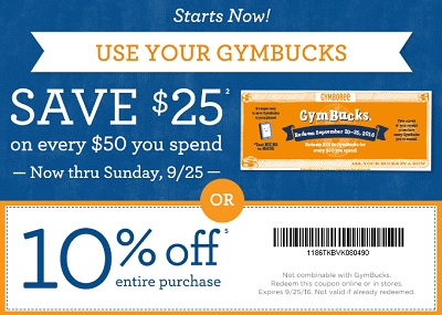 Coupon for: Save money at Gymboree