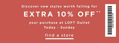 Coupon for: U.S. LOFT Outlets: Save with coupon