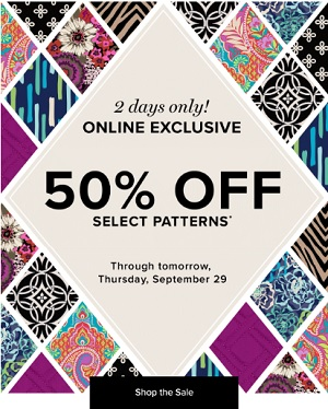 Coupon for: Online exclusive offer from Vera Bradley
