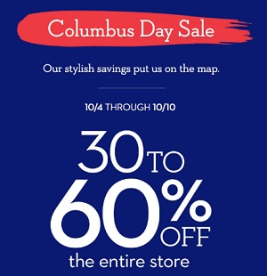 Coupon for: Columbus Day Sale at Chico's Outlets