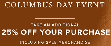 Coupon for: Columbus Day Event is on at U.S. Brooks Brothers
