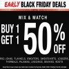 Coupon for: Shop Early Black Friday Deal from U.S. TILLYS