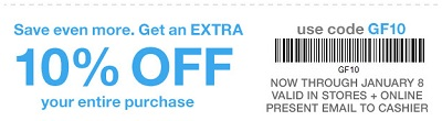 Coupon for: U.S. Gap Factory Deal: Save extra money with coupon