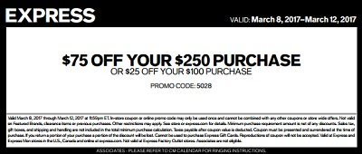 Coupon for: More you spend, more you save at U.S. Express