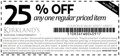 Coupon for: Soak up the Sun and SAVE money at U.S. Kirkland's