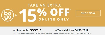 Coupon for: U.S. Payless ShoeSource: BOGO + Extra savings
