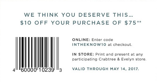 Coupon for: Everyone gets a gift at U.S. Crabtree & Evelyn