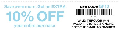 Coupon for: U.S. Gap Factory: Do you want to save more money?