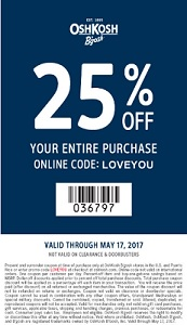 Coupon for: Shop U.S. OshKosh B'gosh Friends & Family Sale