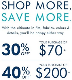 Coupon for: U.S. Banana Republic Deal: Shop More, Save More