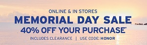 Coupon for: U.S. Eddie Bauer Deals: Save money during Memorial Day Sale