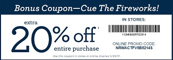 Coupon for: Get extra discount at Gymboree Stores & Online