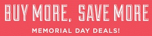 Coupon for: Buy more, save more with Mark and Graham Memorial Day Deal