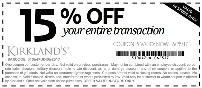 Coupon for: U.S. Kirkland's: Save More on Summer Steals