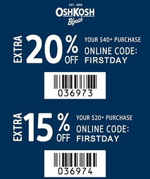 Coupon for: U.S. OshKosh B'gosh Sale: More you spend, more you save