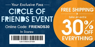 Coupon for: Shop Friends Event at U.S. Gymboree: 30% off