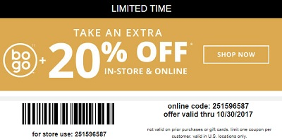 Coupon for: EXTRA Savings at U.S. Payless ShoeSource