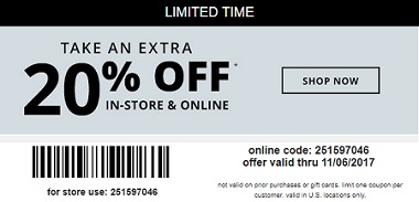 Coupon for: U.S. Payless ShoeSource: 20% Savings pass