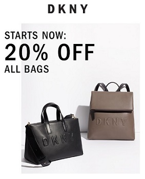 Coupon for: Bags on sale at U.S. DKNY