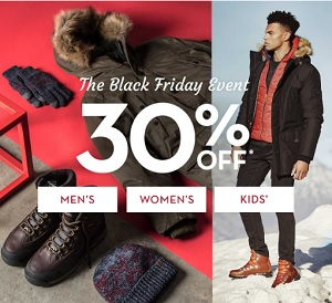 Coupon for: The Black Friday Event is on at U.S. Timberland