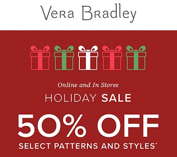 Coupon for: U.S. Vera Bradley Holiday Sale: Get EXTRA discount