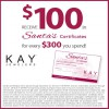Coupon for: SANTA'S CERTIFICATES, Kay Jewelers