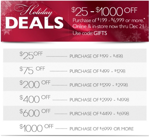 Coupon for: Helzberg Diamonds, Holiday Deals