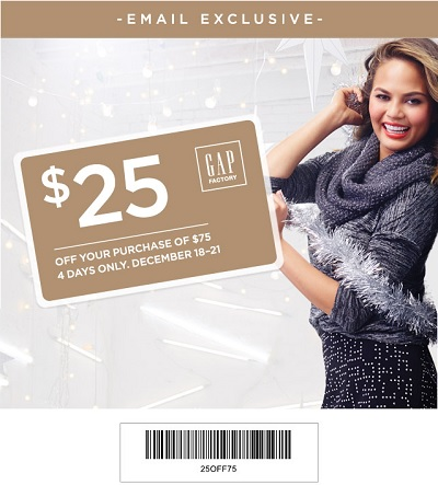 Coupon for: Gap Factory, Special Gift