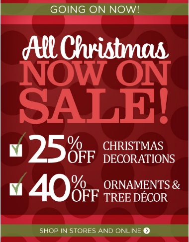 Coupon for: Kirkland's, All Christmas now on SALE