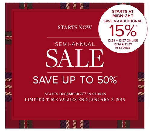 Coupon for: Brooks Brothers, Semi-Annual SALE