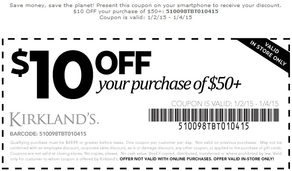 Coupon for: Kirkland's, Save money with Printable Coupon